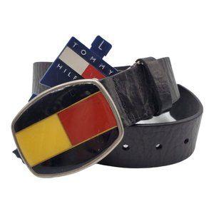 Tommy Hilfiger Black Leather Belt